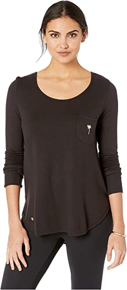 Luxletic Kerah Long Sleeve Lounge Tee