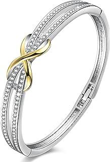 Angelady 14K Gold Plated Encounter Bangle Bracelet for...
