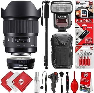 Sigma 20mm f1. 4DG HSM Artレンズfor Canon EOS EF DSLRカメラ+ 16GB 17pcバンドルfor 80d、77d、70d、60d、60da、50d、7d、6d、5d、5ds、1ds、t7i、t7s、t7、t6s、t6i、t6、t5i、t5、sl2and sl1