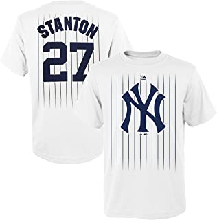 e0cdb73309a Outerstuff Giancarlo Stanton New York Yankees  27 Youth White Name   Number  T-Shirt