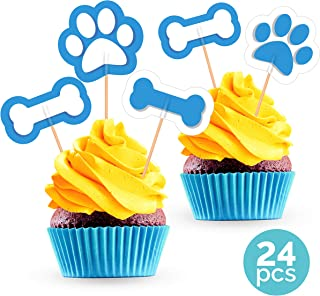 paw print cupcake picks