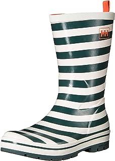 Helly Hansen Women's Waterproof Midsund 2 Graphic Rain Boots, Rock/Off White/Bright Bloom, 8