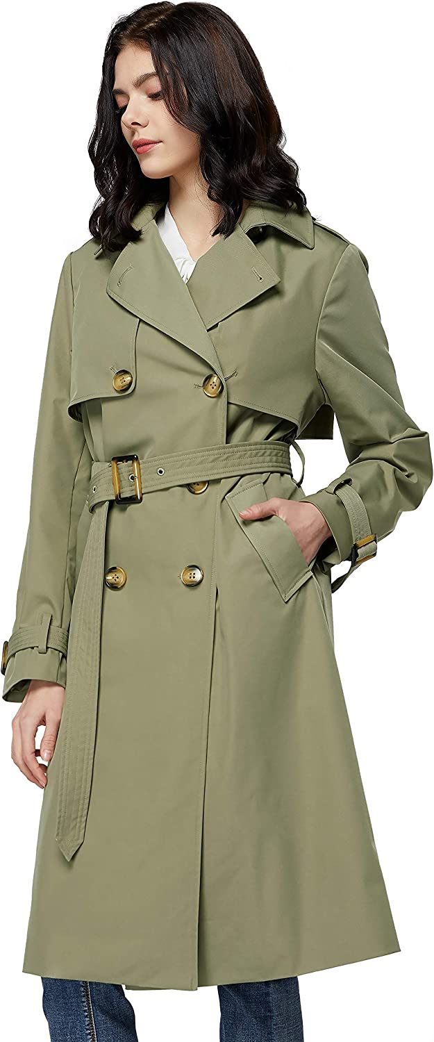 Orolay Women's 3 4 Length Double cheap Trench Breasted Max 89% OFF Jack Coat Lapel