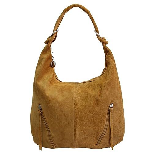 f80cf8a03f4 AMBRA Moda bolsa de asas de cuero de las mujeres Bolso de gamuza Bolso de  hombro