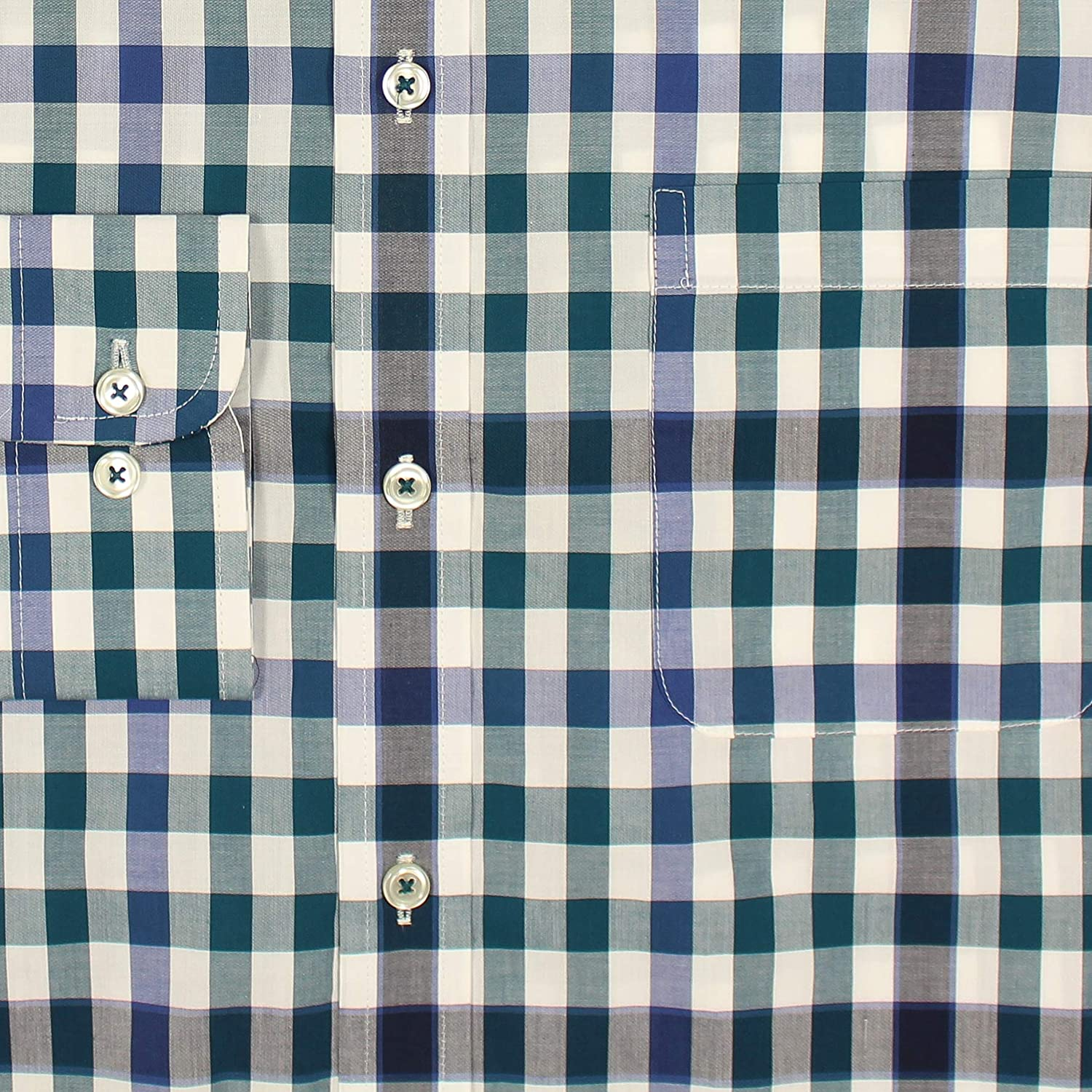 Roundtree & Yorke Big and Tall Luxury Cotton Men's Long Sleeve Shirt