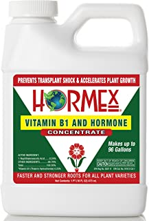 Hormex Vitamin B1 Rooting Hormone Concentrate   Prevents Transplant Shock   Accelerates Growth   Stimulates Roots   For All Plant Varieties and Grow Mediums Including Hydroponics (16 oz)