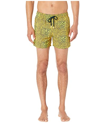 Vilebrequin Moorise Shell Turtles Superflex Swim Trunks (Cedrat) Men