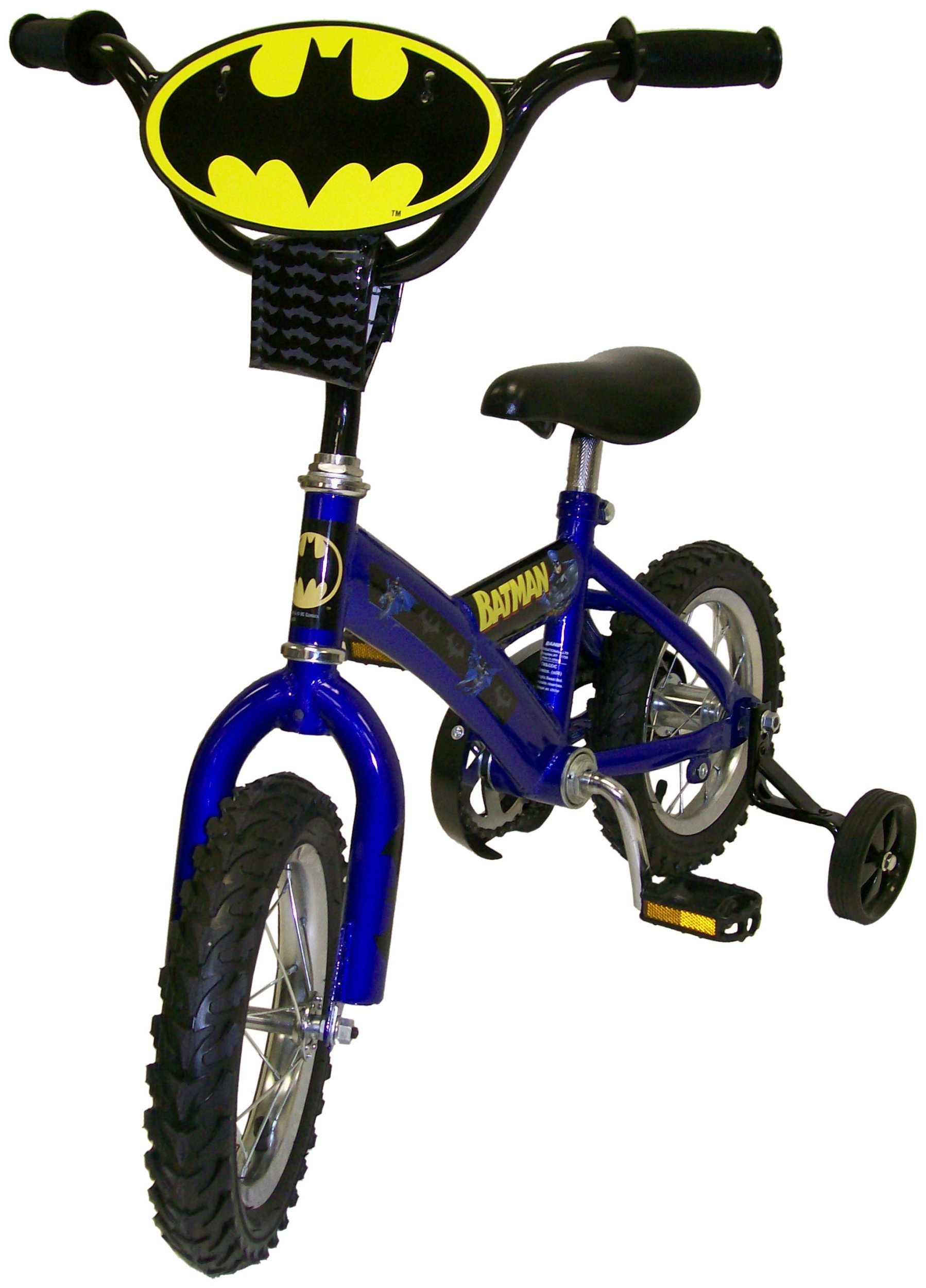 12 Inch Batman Graphics Face Plate Number Theme Design Boys Bike Training Wheels