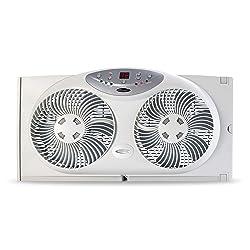 Bionaire Window Fan with Twin 8.5-Inch Reversible Airflow
