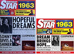 1963 Birthday Gifts Set - 1963 DVD Film , 1963 Chart Hits CD and 1963 Birthday Star Card