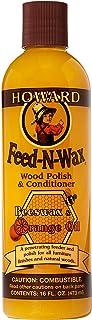 Howard Products FW0016 Wood Polish & Conditioner, 16 oz, Orange, 16 Fl Oz