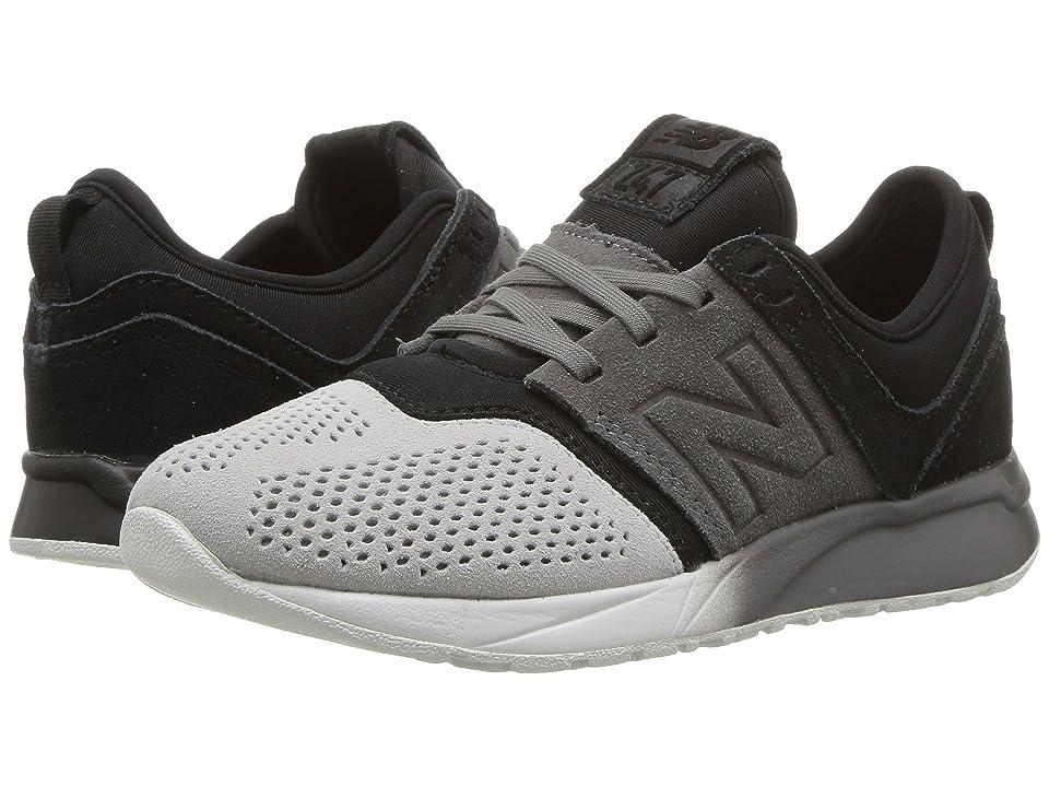 New Balance Kids KL247v1P (Little Kid) (Black/Castlerock) Boys Shoes