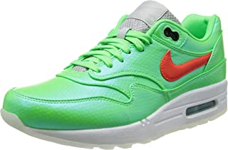 Nike Mens Air Max 1 FB Premium Mercurial Polarized Blue/Total Crimson/Green Synthetic Athletic Sneakers Size 9