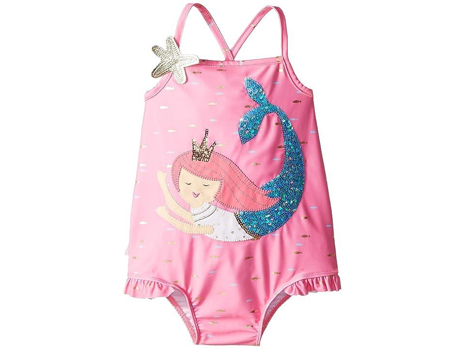 Mud Pie Mermaid One-Piece Swimsuit (Toddler) (Pink) Girl