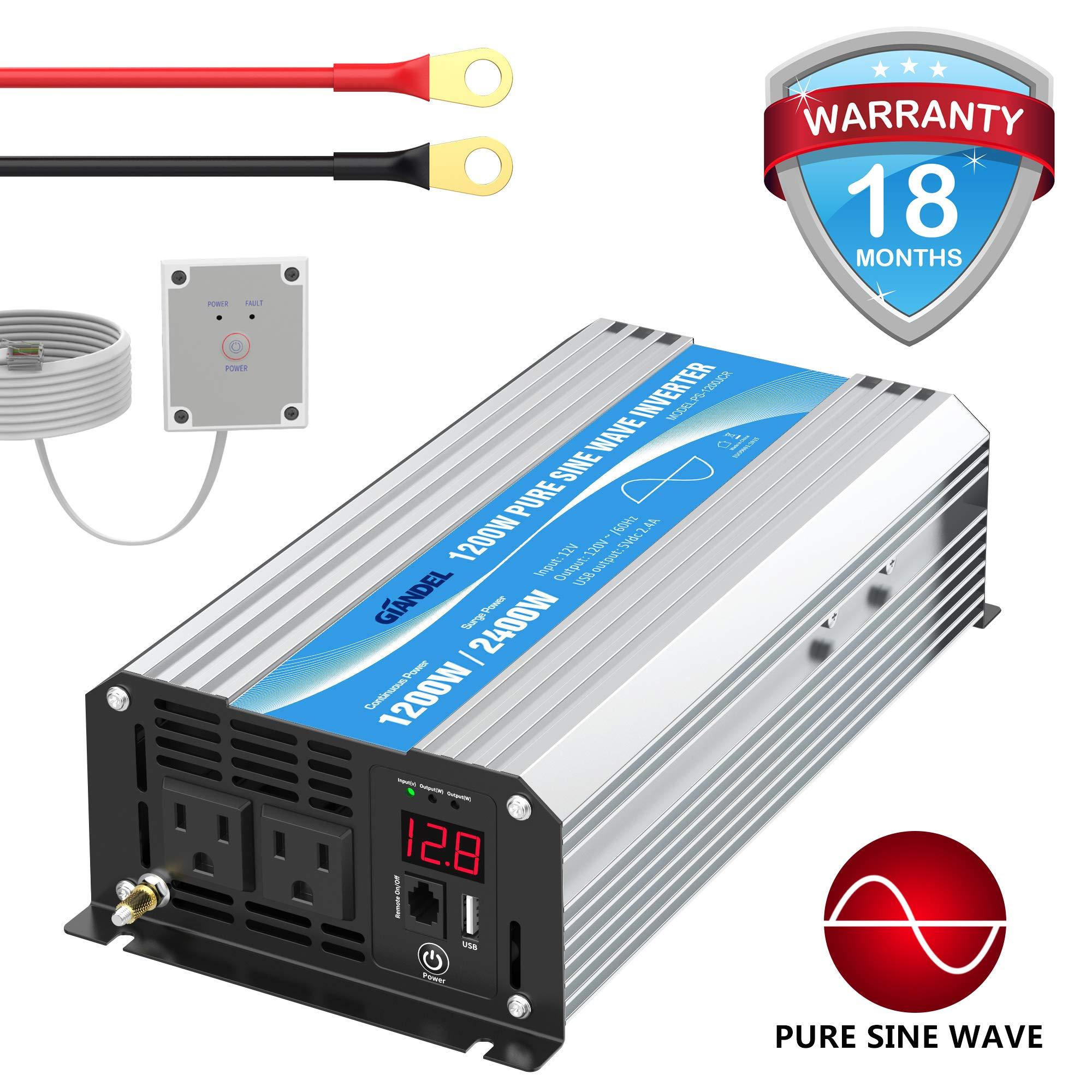 Inverter 1200Watt Control Outlets Emergency