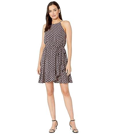 Karen Kane Ruffle Faux Wrap Dress (Print) Women
