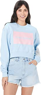Calvin Klein Jeans Women's Oversized Cropped Multi Logo Sweater