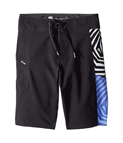 Volcom Kids Family Deadly Mod Boardshorts (Big Kids) (Black) Boy