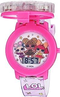 ساعة كوارتز للبنات بسوار من البلاستيك من ال. او. ال سبرايز!، لون زهري، 17.4 (موديل:) (LOL4042)