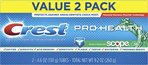 Crest 2 Piece Pro Health with a Touch of Scope Whitening Toothpaste, 4.6 Ounce (Pack of 6) (Packaging May Vary)