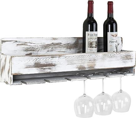 Amazoncom White Wall Mounted Wine Racks Wine Racks Cabinets
