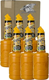 Finest Call Premium Mango Fruit Puree Drink Mix, 1 Liter Bottle (33.8 Fl Oz), Pack of 6