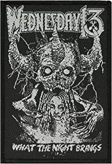 Wednesday 13 What The Night Brings Patch Metal Punk Band Woven Sew On Applique