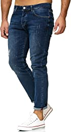 Hommes Jeans Regular-Fit Vintage Casuales Effet Us