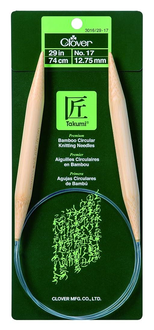 Clover Bamboo Circular Knitting Needles 29in/ No. 17, 29