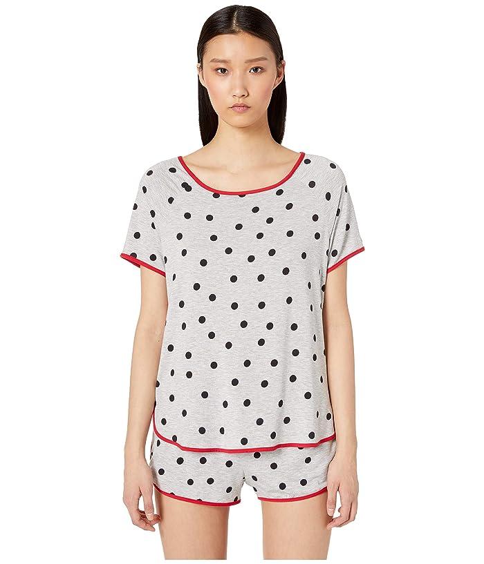 Kate Spade New York Jersey Knit Short Pajama Set (Dancing Dot) Women