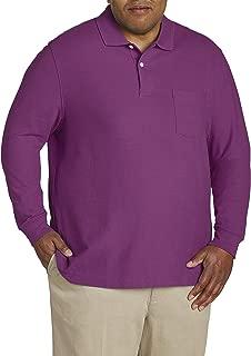 Canyon Ridge Men's Big and Tall Long Sleeve Pique Polo Shirt