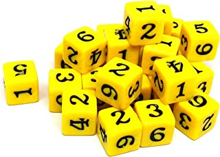 Army #10 D6 Collection - 25 Count Pack of Numbered 6 Sided Dice - Perfect for Tabletop War Games and RPGs