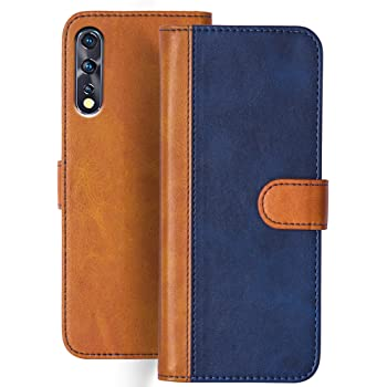 Knotyy Faux Leather Flip Cover for Vivo Z1x with Foldable Stand & Cards Slots - Multicolor