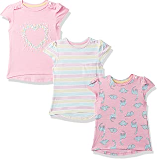 Mothercare Baby Girl's Floral Regular fit T-Shirt (Pack of 3)