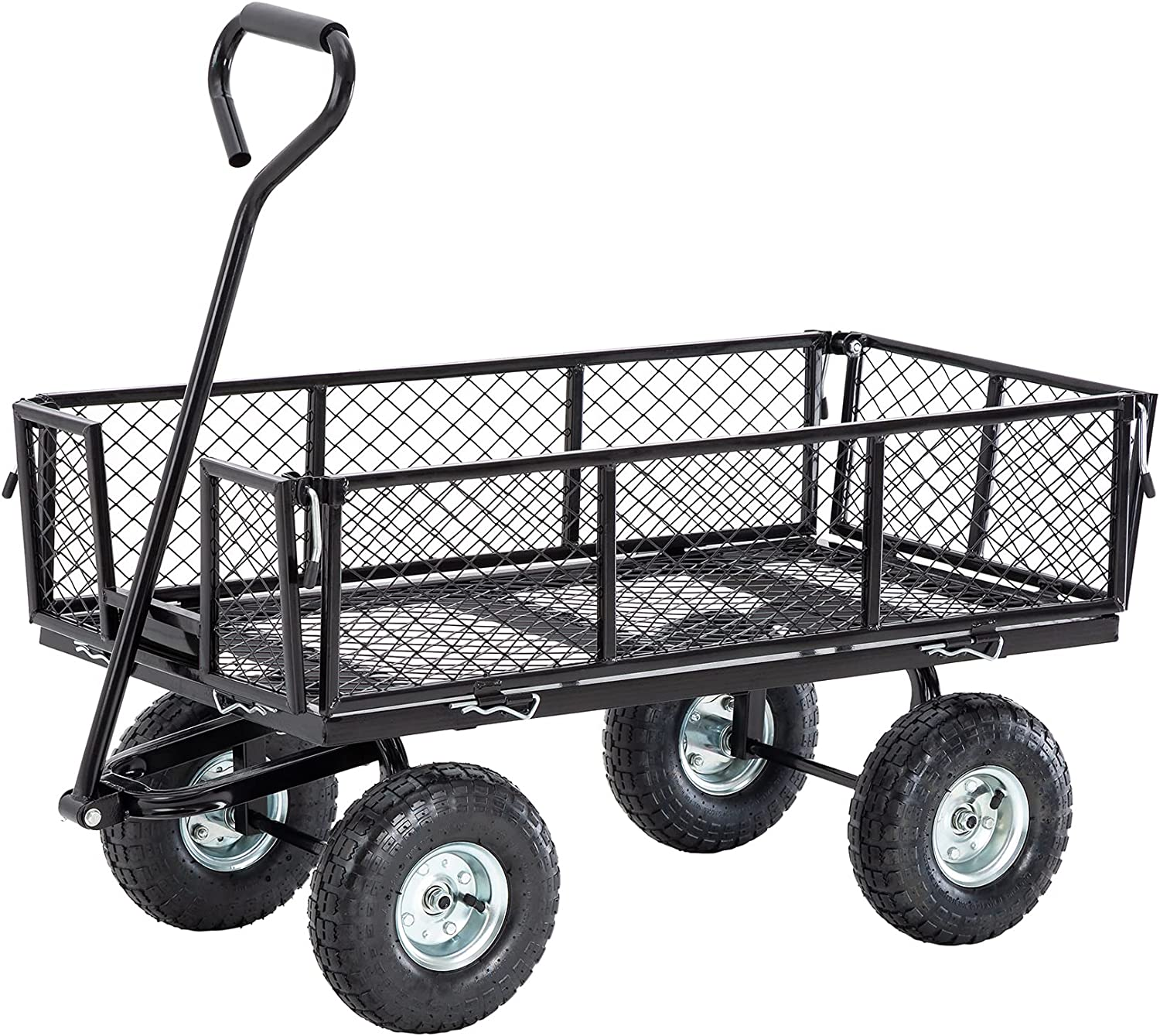Glitzhome Heavy Duty Super Special SALE held Steel Utility Purchase Outdoor Cart 550-lbs Capacity