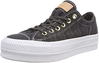 Converse Women's CTAS Lift OX Almost Black Trainers, Black (Almost Black/Almost Black 049), 5.5 UK