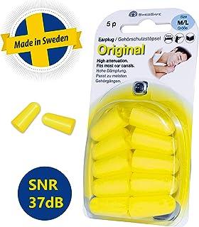 SwedSafe Tapones Oídos - Protección Auditiva - Para Natación | Dormir | Concierto | Festival - Small