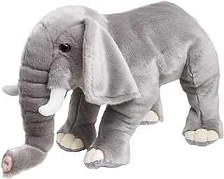 FAO Schwarz Plush Elephant Stuffed Animal, 18 Inches, Grey