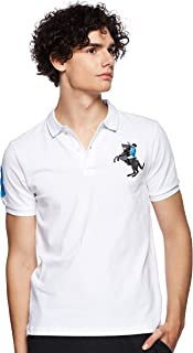 Giordano Men's 01019210 3D Lion Multi-color Embroidery Polo