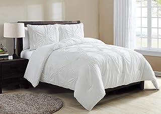 VCNY Home Comforter Set, Microfiber, White, king