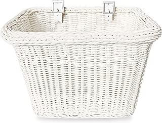 Colorbasket 00696 Front Handle Bar Adult Bike Basket, Water Resistant, Leather Straps