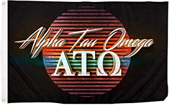 Alpha Tau Omega 80's Letter Fraternity Flag Banner 3 x 5 Feet Sign Decor ATO