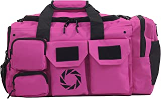 WODSuperStore Large Gym Bag with Shoe Compartment - by Rigor Gear - Workout Bag for Men & Women with Wet & Dry Pocket, Water Bottle Holder - Zipper & Velcro Pockets & Compartments for Workout Gear