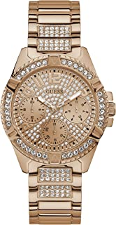 GUESS - W1156L3 - WATCH FOR LADIES ROSE GOLD WITH CRYSTAL STAINLESS STEEL