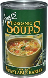 Amy's, Organic Soups, Vegetable Barley, Low Fat, 14.1 oz (400 g)(Pack of 4)
