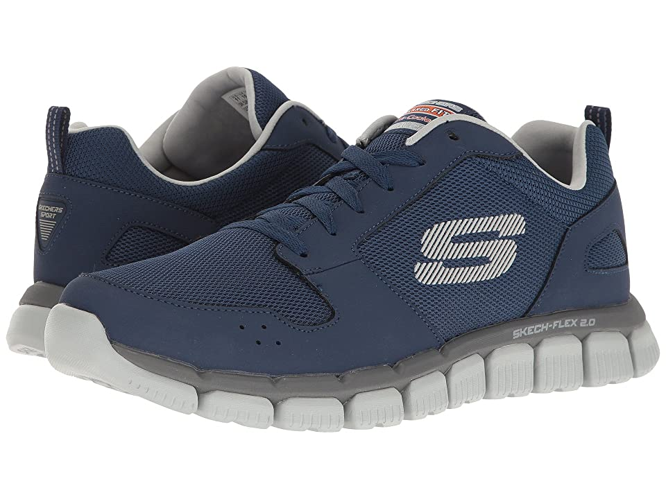 SKECHERS Flex 2.0 (Navy/Gray) Men