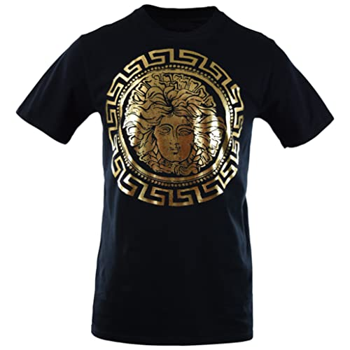 Mens Premium Heavyweight Pullover Sweaters and T Shirts with Medusa Print 3a264813b4af