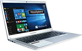 """Touchmate 14"""" Intel Celeron Apollo Lake N3350 2.4Ghz Processor, 4GB DDR3 RAM, 32GB SSD Internal Storage with Micro SD slot capacity upto 128GB and Windows 10 Pro Enabled Notebook Silver"""