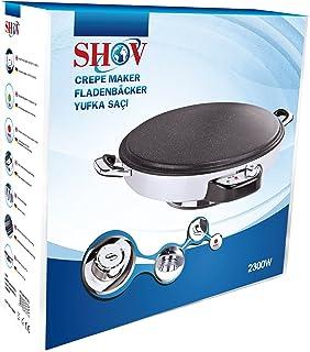 SHOV® Crepe maker fladbägare multi grill Yufka katt 2300 watt 50 cm diameter granit