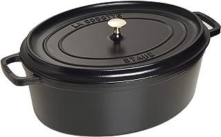 STAUB Cocotte en Fonte, Ovale 29 cm, 4,25 L, Noir